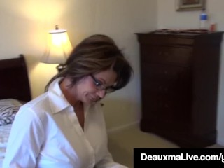 Texas mummy Deauxma As A Census Taker drills Brooke Tyler! free carnal knowledge